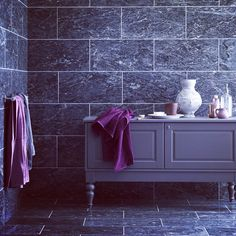 Gorgeous Mandarin Stone Manhattan Marble | Grey and steel grey marble tiles with beautiful lighter veining | Great for both wall or floor. | www.mandarinstone.com