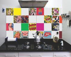 kit azulejo pop art (15x15cm) - decoração elaine adesivos