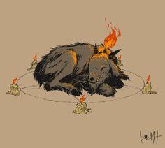 Baphomet, Black Phillip, Creepy Tattoos, Satanic Art, Animal Doodles, Sketches Tutorial, Found Art, Kawaii, Fantasy Rpg