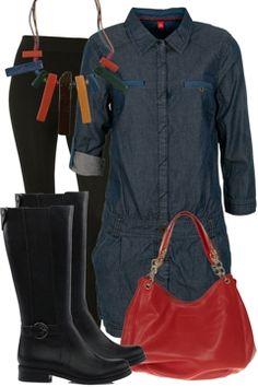 Denim-dress-smart-casual-outfit