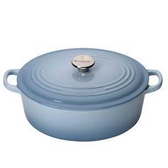 Le Creuset gryde oval 4,1 L, coastal blue