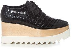 Shop Now - >  https://api.shopstyle.com/action/apiVisitRetailer?id=530111716&pid=2254&pid=uid6996-25233114-59 STELLA MCCARTNEY Elyse faux-crocodile lace-up platform shoes  ...