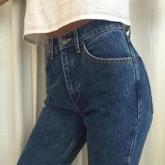 Our favorite: The High-Waist Jean. #AmericanApparel #MadeInUSA