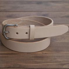 """Just released. Our natural belt in 1.25"""" width. Pick one up for $38 until 4pm pst today. Link in bio"""