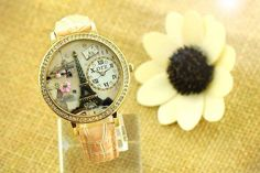 Cute Watch with Eifell Tower for Paris lovers! Very Kawaii.