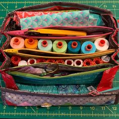 Just in case you were wondering how much stuff fits into a Sew Together Bag, the answer is a lot! I have 11 small spools, 7 large spools,… Sew Together Bag, Just In Case, Sunglasses Case, Sewing, Fitness, Bags, Instagram, Handbags, Dressmaking