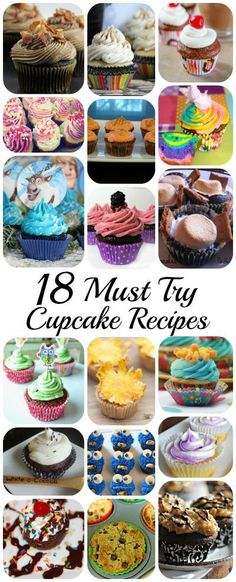 18 Must Try Cupcake Recipes. Easy cupcake ideas. Blogger Roudup. The Flying Couponer | Family. Travel. Saving Money