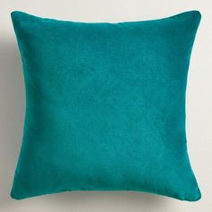 One of my favorite discoveries at WorldMarket.com: Teal Velvet Throw Pillow