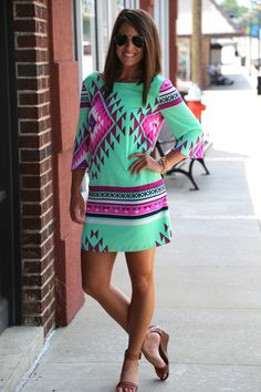 Mint Multi {Dress}