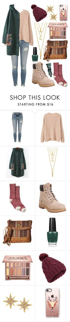 """""""Untitled 160"""" by meaganmuffins ❤ liked on Polyvore featuring River Island, MANGO, BERRICLE, Timberland, American West, OPI, Urban Decay, Miss Selfridge, Charm & Chain and Casetify"""