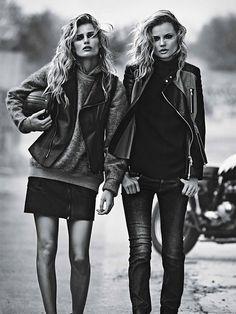 nice W Magazine Setembro 2013   Edita Vilkeviciute & Magdalena Frackowiak por Lachlan Bailey  [Editorial]