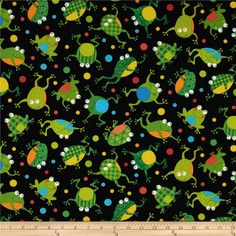 Designed for Timeless Treasures, this cotton print is perfect for quilting, apparel, crafts, and home decor items. Colors include black, green, yellow, orange, blue, white, and lime.