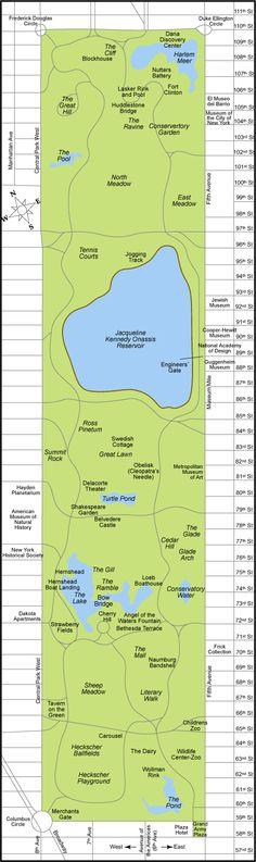 Central Park map picture