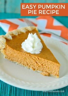 Pumpkin Pie Recipe | Love from the Oven