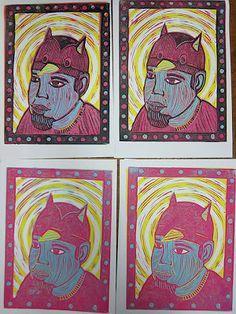 Upper School Art (Grades 7-12): Printmaking
