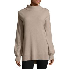Rag & Bone Ace Cashmere Turtleneck Sweater ($495) ❤ liked on Polyvore featuring tops, sweaters, beige turtleneck, oversized cashmere sweater, long sleeve turtleneck, cashmere turtleneck and turtle neck top