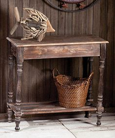 Another great find on #zulily! Gray Wooden Hall Table by Evergreen #zulilyfinds