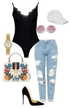 Untitled #3 by jacqueline-jj on Polyvore featuring polyvore, fashion, style, Topshop, Boohoo, Christian Louboutin, Gucci, Rolex, Le Amonie and clothing