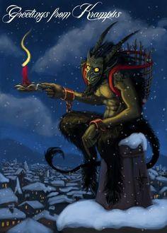 Pagan Christmas, Dark Christmas, Christmas Art, Christmas Traditions, Vintage Christmas, Christmas Humor, Xmas, Creepy, Scary