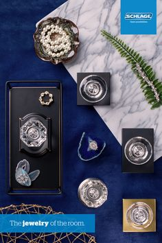 Add glamour and style to any room with Schlage Custom glass door knobs.