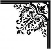 cnc world: Corner floral ornament dxf file Boarder Designs, Page Borders Design, Edge Design, Stencil Patterns, Stencil Designs, Damask Patterns, Picture Borders, Photography Studio Background, Decorative Lines