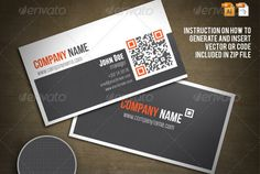25 Impressive Examples of QR Code Business Cards