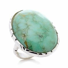 296-264 MINE FINDS BY JAY KING Jay King Green Opal Sterling Silver Ring $89.90