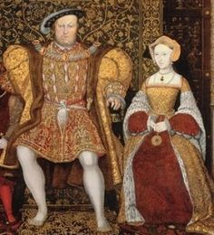 Henry VIII and Jane Seymour -- She was the only one of his 6 wives he truly loved.  Their marriage was short -- 1 1/2 years.  She died 2 weeks after giving birth to the son Henry always wanted.  She was the only one of his queens to receive a queen's funeral, and to be buried in his vault.