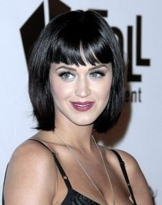 Katy Perry Long Bob Hairstyle With Bangs 09 Icingl