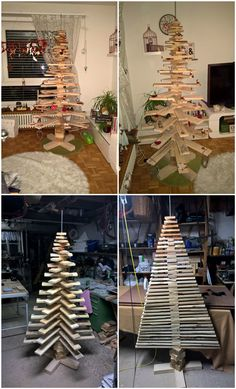 #Christmas, #ChristmasTree, #HomeDécor, #RecycledPallet, #Tree