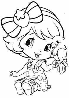 18 Stamps Pins to check out Coloring Pages For Girls, Cute Coloring Pages, Cartoon Coloring Pages, Disney Coloring Pages, Coloring For Kids, Coloring Sheets, Coloring Books, Strawberry Shortcake Coloring Pages, Digi Stamps