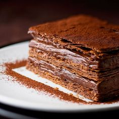 Chocolate mousse mille feuille