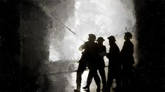 Firemen At War - Digitally Manipulated Photograph - Limited Edition of 10 by GregWatkissArt on Etsy