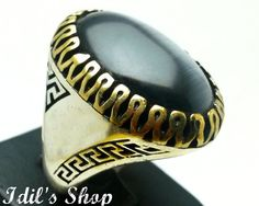 Men's Ring Turkish Ottoman Style Jewelry 925 Sterling by IdilsShop, $160.00