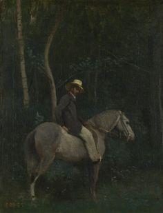 FCBTC / Monsieur Pivot on Horseback, 1853, Jean-Baptiste-Camille Corot