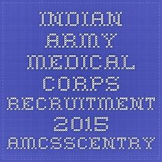 Indian Army Medical Corps Recruitment 2015 Amcsscentry