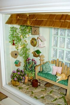"""Becky Seward from Fremont, CA exhibited """"Olie's Tweet Shop"""" at last year's Good Sam Show. It is totally charming, exquisitely made, and loa..."""