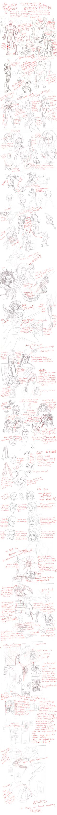 Everything Mini Tutorial by *CarlosGomezArtist on deviantART repinned by www.BlickeDeeler.de