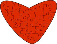 Free Valentine Heart Puzzle Clip art from Charlotte's Clips