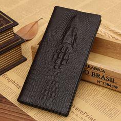 YOUYOU MOUSE High Grade Men Cow Leather Wallets Short Male Alligator Purse Business Card Holder Bag Men wallet Coin Packet
