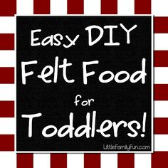How to make NO-SEW Felt Food for your kids to play with!