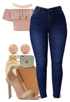 """Untitled #575"" by tayloryvonne1 on Polyvore featuring Miss Selfridge, Yeprem, Michael Kors, Yves Saint Laurent, Charlotte Russe and Carolina Bucci"