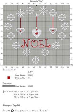 point de croix Noël