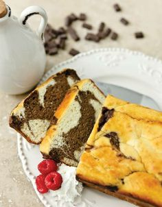Low Carb Chocolate Marble Ricotta Cake... Recipe by George Stella .....Low Carbing Among Friends on Faceboook