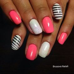 A simple but yet elegant design will attract attention to your hands and show to everyone that you know how to be stylish. This option is unusual because i