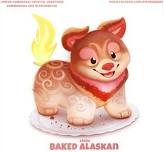 By: Piper Thibodeau Cute Food Drawings, Cute Animal Drawings Kawaii, Kawaii Drawings, Cute Fantasy Creatures, Cute Creatures, Fruit Animals, Cute Animals, Pretty Backrounds, Animal Puns