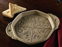 Thistle Shortbread Mold - Octagonal Ceramic with Shortbread Cookbook