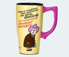 """Aunty Acid Ceramic Mug """"Freaking Hungry"""""""