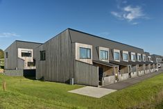 Bakkehusene, located in Denmark, is a private apartment finished with natural and dimensionally stabile Lunawood exterior cladding House In Nature, Solar Shades, Exterior Cladding, Rural Area, Aarhus, Facade, Home And Family, Outdoor Structures, Mansions