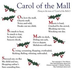 Never learned the words to Carol of the Bells, but I can relate to these...